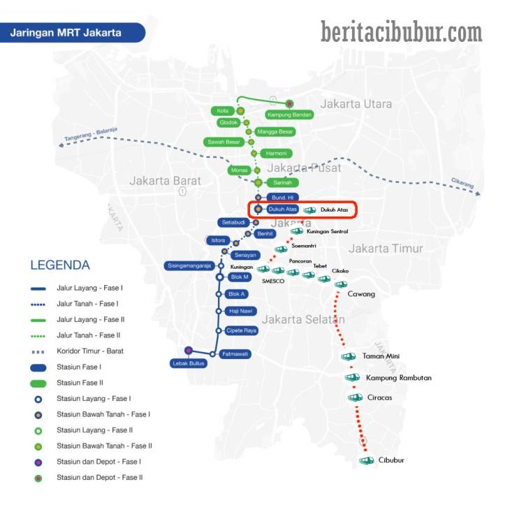 Stasiun LRT Cibubur - Dukuh Atas