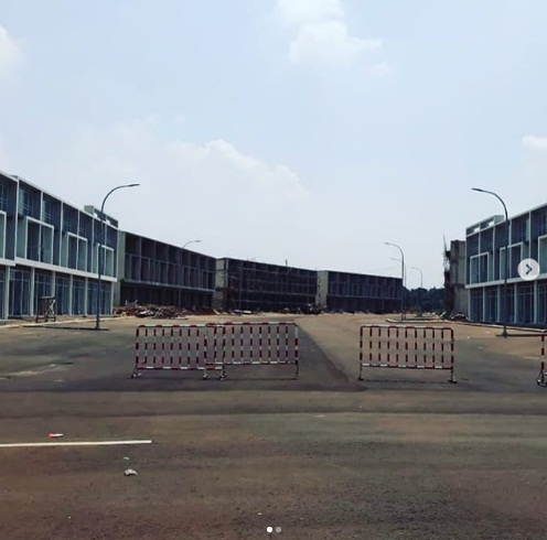 Progress pembangunan Ruko Avenue1 per April 2019